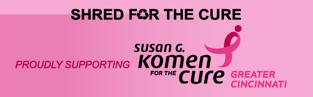 Shred for the cure banner